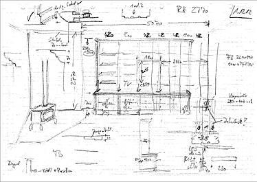 Handskizze von der ersten Idee
