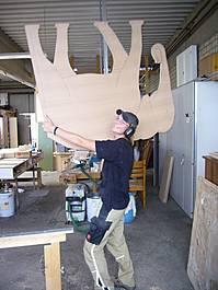 Kinder, Kinder...was man aus Holz alles machen kann!